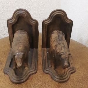 🌟Small cow rustic metal bookends
